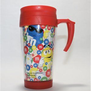 M&M's Red Plastic Travel Mug With M&M's Characters